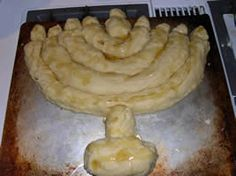 A Challah Menorah...I know it's not the right time of year, but this is awesome!
