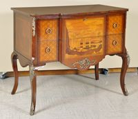 Huge Selection of Italian Style Bombes and Commodes. Empire Commodes.