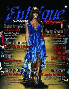 April 2015 now available: Hard copies. (Red or Blue) http://www.magcloud.com/browse/issue/911696 #naomicampbell