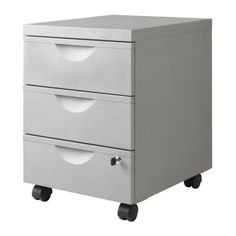 Ikea, Erik drawers on castors - width 41cm.  Comes in white.