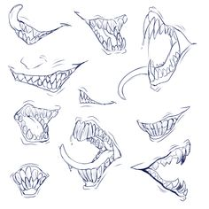 Post with 2742 votes and 89418 views. Tagged with drawing tutorial; Pointy teeth and horns tips and references Mouth Drawing, Manga Drawing, Drawing Sketches, Cool Drawings, Demon Drawings, Sketching, Drawing Reference Poses, Drawing Poses, Art Du Croquis