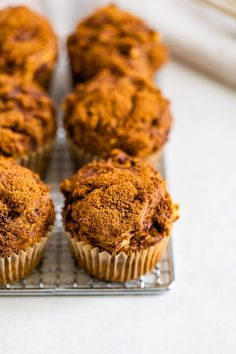These healthy apple muffins are made with a blend of whole wheat and all-purpose flour. They're loaded with fall flavor and extra moist thanks to pumpkin! Healthy Apple Cinnamon Muffins, Healthy Muffins, Cinnamon Apples, Muffin Tin Recipes, Baking Recipes, Bread Recipes, Coconut Milk Yogurt, Best Breakfast, Breakfast Options