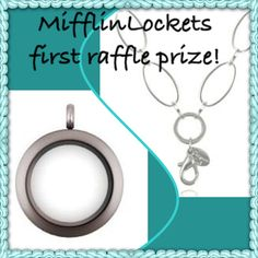 """We want to thank everyone that entered into the MifflinLockets first ever raffle event! And the winner is - EMILY DILLE!!!!  She won a beautiful silver medium locket (LK1006) and 32"""" silver large flat oval link custom chain (CN5013)!  Congratulations Emily!"""