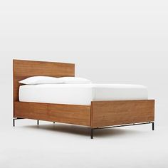 Nash Teak Storage Bed #westelm