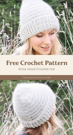 Add instant warmth to your everyday winter outfits by making this simply chic crochet beanie that's versatile nought to go with any ensemble.This easy crochet pattern is crocheted top down with relief crochets and makes for a great last-minute crochet gift.| More free crochet patterns at thecrochetfox.com Crochet Summer Hats, All Free Crochet, Crochet Beanie, Beginner Crochet Projects, Crochet Patterns For Beginners, Crochet Stitches Patterns, Hat Patterns, Diy Crochet Gifts, Crochet Faces