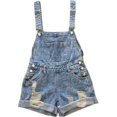 Ripped Loose Fit Denim Jumpsuits ($25) ❤ liked on Polyvore featuring jumpsuits, shorts, overalls, bottoms, dresses, jumpsuit overalls, blue denim overalls, loose jumpsuit, jump suit and denim bib overalls