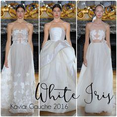 """""""White Iris"""" Kaviar Gauche Brautmoden 2016 I Braut Concierge Veranstaltungsmanufaktur www.Braut-Concierge.de"""