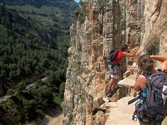 El Caminito del Rey, Spain - not for the faint of heart.