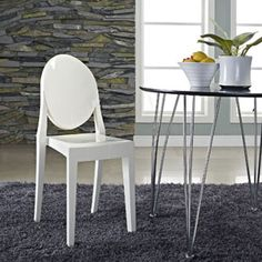 Casper Dining Side Chair 122-WHI by LexMod