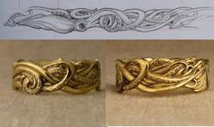 """Say """"I Do"""" With Squid Wedding Bands - if only they were in silver or white gold"""