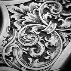 Metal Engraving, Engraving Ideas, Filigree Tattoo, Desenho Tattoo, Carving Designs, Scroll Design, Hand Art, Ink Illustrations, Technical Drawing