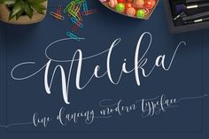 Hi all i introduce a new font, Melika script. Melika script is copperplate handwritten with stylish modern free flowing up and down as if playing jumping on a trampoline but still beautiful with its simplicity. Especially long lines add elegance.  Melika script very personal present to you a dynamic, energetic and simple. Melika Script is suitable for weddings, invitations, greeting cards, quotes, posters, branding, name card, etc. Melika Script come complete wit