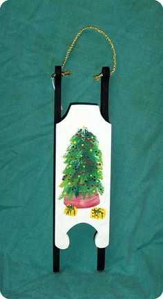 Hand Painted Christmas Sled
