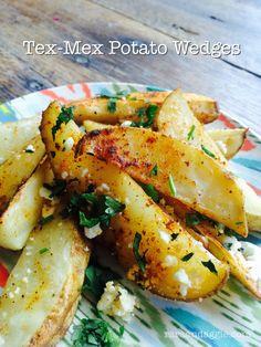 Tex-Mex Potato Wedges http://www.raraandaggie.com/kid-friendly-recipes/tex-mex-potato-wedges/