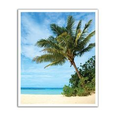JP London POS0023 Tropical Beach Paradise Peel and Stick Removable Wall Decal Mural