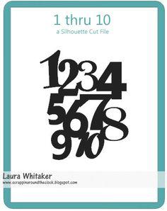 Scrappin' Around the Clock: My Cut Files