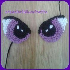 Resultado de imagen para como fazer olho de boneca em croche