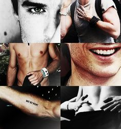 His eyes. His arms. His abs. His smile. His arm tattoo. Ever perfect feature. Ian Somerhalder. The Vampire Diaries ♥