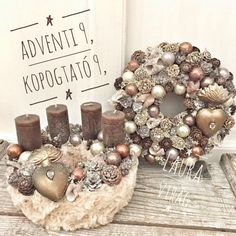 72 Trend Simple Rustic Winter Christmas Centerpiece – Welcome My World Christmas Candles, Winter Christmas, Christmas Decorations, Christmas Ornaments, Christmas Crafts, Table Decorations, Stix And Stones, New Year Diy, Winter Centerpieces