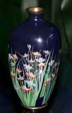 Japanese Cloisonne Enamel Cabinet Vase