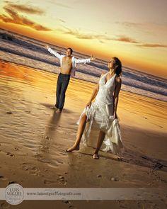 Fotos de boda en la playa en San Fernando