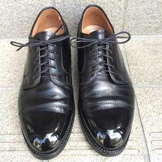2016/09/07 17:45:44 gentle_kutsumigaki ALDEN #971 STRAIGHT TIP BLUCHER #alden #shoecare #shoeshine #bootblack #classy #gentleman #mirrorshine #fashion #mensfashion #kiwi #saphir #tokyo