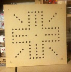 """Router template for a 24""""x24"""" wahoo board. 1/4"""" MDF"""