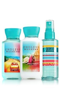 bath and body works ENDLESS WEEKEND - Endless Weekend by Bath and Body Works is a Floral Fruity fragrance for women. This is a new fragrance. Endless Weekend was launched in 2014. Top notes are raspberry, litchi, mandarin orange, nectarine, apple and mirabelle; middle notes are magnolia, gardenia, plum blossom and jasmine sambac; base notes are vanilla, sandalwood, vanilla orchid, coconut nectar, sugar and musk.