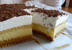 Krémes, varázslatos és sütni sem kell! Kóstold meg, valódi ízélményben lesz részed! Hozzávalók 40 dkg háztartási keksz 2 csomag vaníliás pudingpor 8 evőkanál cukor 8 dl tej 4 dl habtejszín 2 evőkanál porcukor 2 tasak vaníliás cukor 2 tasak habfix 6 dkg csokoládéreszelék A karamellhez: 25 dkg cukor 2,5 dl tejszín 1 vaníliarúd 4 dkg...Olvasd tovább