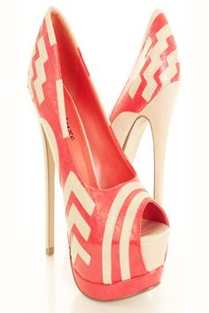Coral Faux Leather Pattern Shoes - LoveItSoMuch.com- umm maybe my shoes for the wedding :)