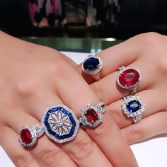 Rubies are red Sapphires, sometimes blue What better way than jewelry to say I Love You <3
