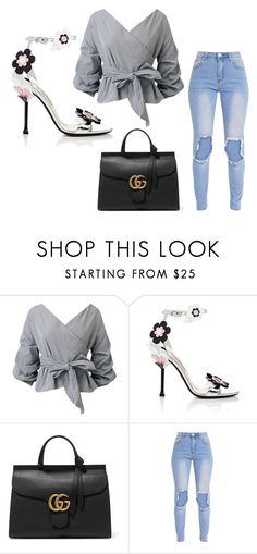 """Untitled #213"" by xxapril ❤ liked on Polyvore featuring Prada and Gucci"