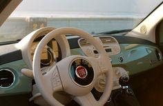 New Autumn Style Secrets in an Old Summer Dress Fiat 500 Cabrio, Fiat 500c, Fiat Abarth, Fiat Cinquecento, Fiat Pop, Fiat 500 Pop, Luxury Logo, Luxury Cars, Mint Green Fiat 500