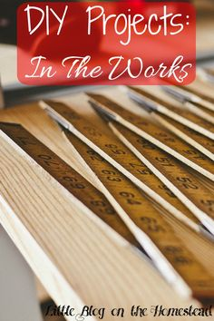 DIY Projects: In the Works