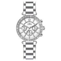 Invicta Womens Angel Silver Stainless-Steel Swiss Quartz Watch