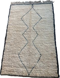 Minimalist Beni Ouarain Rug 243 x Hand-picked by this rug will suit any interiors, from a luxury chalet to a minimalist apartment. With a very simple, beautiful design, this rug is very warm and sumptuous under foot. Minimalist Apartment, Soft Furnishings, Interiors, Warm, Luxury, Rugs, Simple, Beautiful, Design