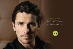 Christian Bale vegan actor – More at http://www.GlobeTransformer.org