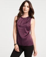 Ann Taylor Draped Front Shell - $68