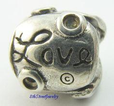 RETIRED Chamilia Sterling Silver 925 Bead Charm Love Hope Dream JA-47B #Chamilia #European