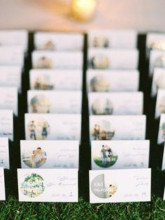 思い出の写真付き♡結婚式のおしゃれエスコートカード一覧♡ウェディング・ブライダルの参考に♪