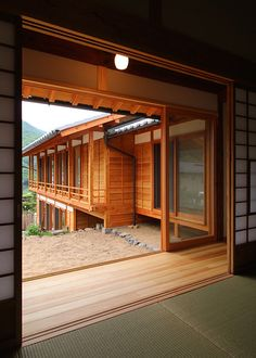 Landscaping For Sloped Yards Japanese Restaurant Interior, Japanese Interior, Japanese Design, Japanese Buildings, Japanese Architecture, Architecture Plan, Japanese Style House, Traditional Japanese House, Asian Home Decor