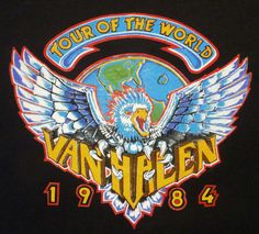 For a band whose name had no reference to nature, Van Halen was particularly fond of incorporating the power and aggression of animals into their T-shirt designs. Description from vhnd.com. I searched for this on bing.com/images