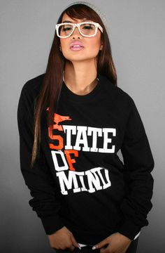 Adapt Advancers — State of Mind (Women's Black/Orange Crewneck Sweatshirt)  i want!