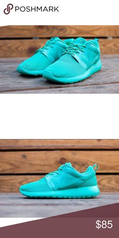 Turquoise roshe runs Turquoise Nike roshe runs. Super comfy and dope color Nike Shoes Sneakers