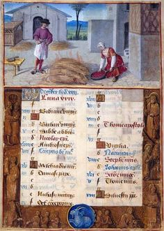 Jean Poyer December: Roasting Slaughtered Pigs Hours of Henry VIII, in Latin Illuminated by Jean Poyer France, Tours ca. 1500 256 x 180 mm The Dannie and Hettie Heineman Collection; deposited in 1962, given in 1977 MS H.8 (fol. 6v)