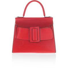 BOYY Toreador Karl Top Handle Bag ($1,185) ❤ liked on Polyvore featuring bags, handbags, red, red top handle bag, handle bag, buckle bag, buckle handbags and top handle bags