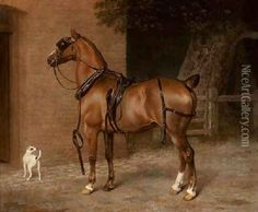 A Carriage Horse Oil Painting - Jacques Laurent Agasse