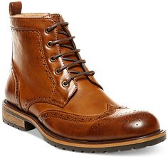 Steve Madden Men's Swavay Wing-Tip Boots https://api.shopstyle.com/action/apiVisitRetailer?id=459674320&pid=uid8100-34415590-43