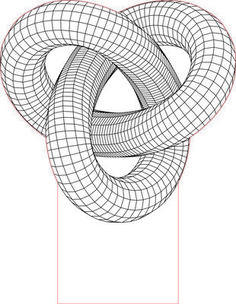 Torus knot 3D illusion LED light vector file
