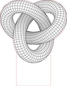 Torus knot 3D illusion LED light vector file